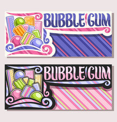 Banners for bubble gum vector