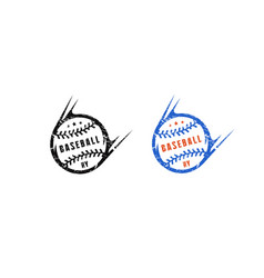 Baseball ball emblem for t-shirt vector