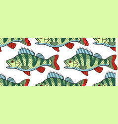 bass fish pattern vector image
