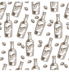 beer and pistachio snack and alcoholic beverage vector image