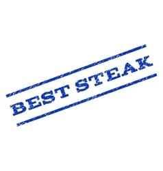 Best Steak Watermark Stamp vector