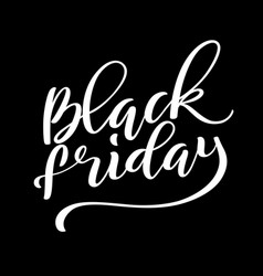 Black friday sale poster with handdrawn lettering vector
