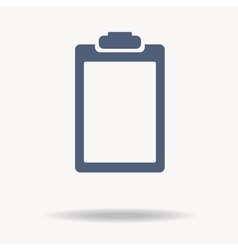 Blue clipboard flat icon vector