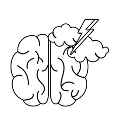 brainstorm idea creativity outline vector image