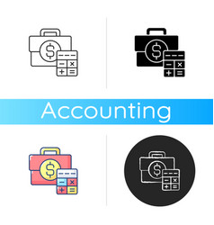 business account icon vector image