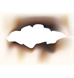 Charred paper vector