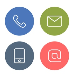 Contact icon vector image
