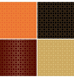 dark and light seamless patterns - set vector image