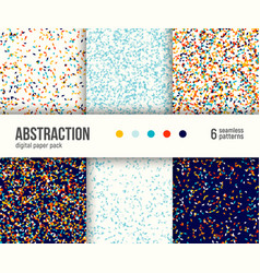 Digital paper pack 6 abstract patterns vector