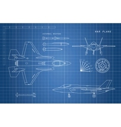 drawing military aircraft vector image
