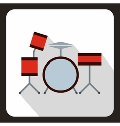 Drums icon flat style vector image