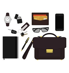 Every day carry businessman items no outlines vector