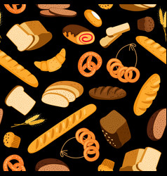 fresh bread pattern vector image