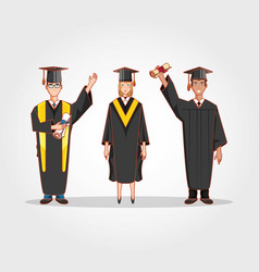 graduate students avatars characters vector image