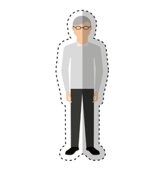 grandfather character isolated icon vector image