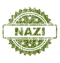 Grunge textured nazi stamp seal vector