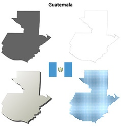 Guatemala outline map set vector