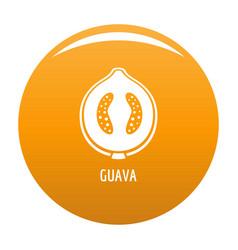 guava icon orange vector image
