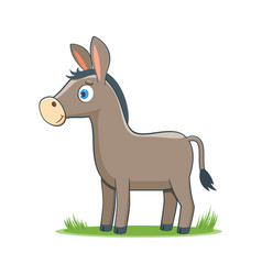 happy cartoon donkey vector image