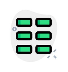 Horizontal block grid in tiles template layout vector