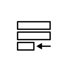 justify text icon can be used for web logo mobile vector image