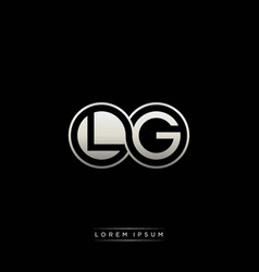 Lg initial letter linked circle capital monogram vector