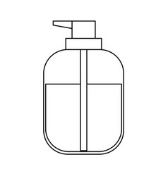 liquid soap bottle dispenser in monochrome vector image