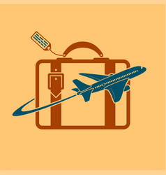 logo plane and travel vector image