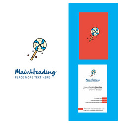 lollypop creative logo and business card vertical vector image
