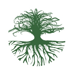 Magic Round Tree Logo vector image