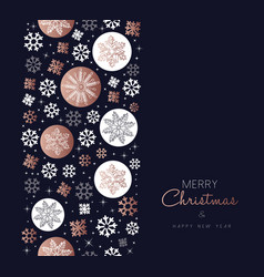 merry christmas copper snowflake pattern card vector image