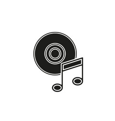 music note dvd button - media or music player vector image