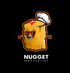 nugget cartoon mascot vector image