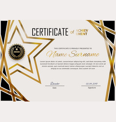 Official certificate with blue design elements vector