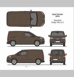 Opel combo cargo van l1 2018-present vector