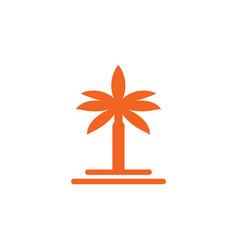 palm tee logo design template vector image