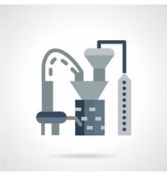 Plastics processing factory icon vector