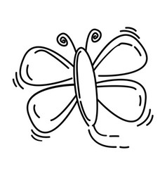 playground kids butterfly vector image