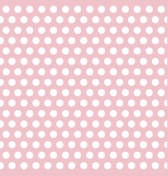 polka dots pink and white abstract seamless vector image