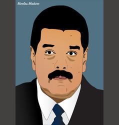 president nicolas maduro vector image