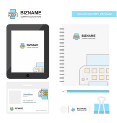 printer business logo tab app diary pvc employee vector image