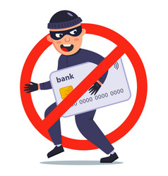 Protection against theft a bank card a vector
