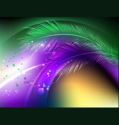 Purple background with feathers vector