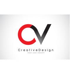 red and black ov o v letter logo design creative vector image