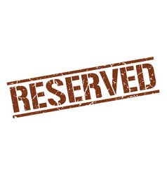 Reserved stamp vector