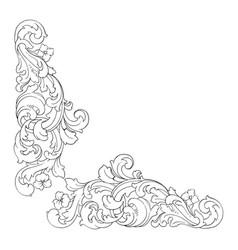 Retro baroque decorations element vector