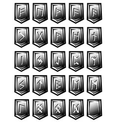 Set of character from runic alphabet on vector
