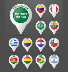Set pointer to map with flag south vector