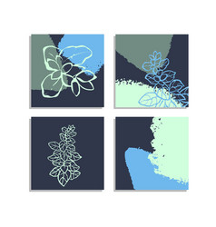 set with collage modern poster with abstract vector image