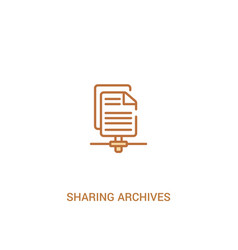 Sharing archives concept 2 colored icon simple vector